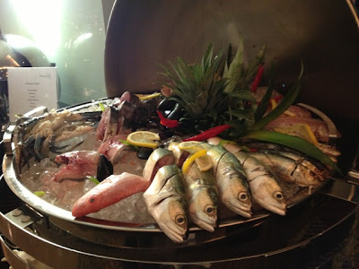 fresh Fish at Petals Restaurant, Rose Rayhaan by Rotana