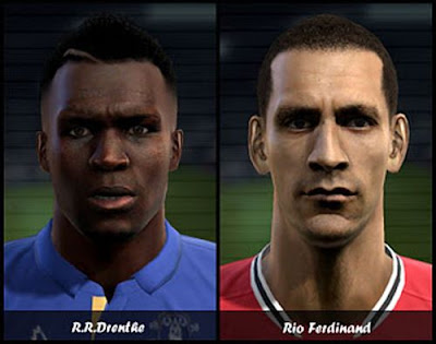 EPLFACEPACK PES 2012: Face de Drenthe e Rio Ferdinand