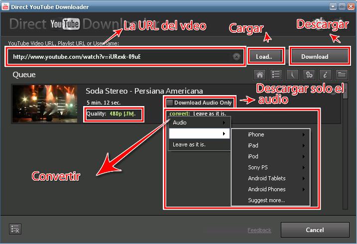 Direct YouTube Downloader