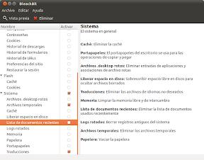 BleachBit o como limpiar tu Ubuntu, Linux Mint, etc, a lo fácil. Uso 7.