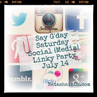 Say G'Day Saturday Linky Party {46} ~ Save the Date for the Let's get Social (Media) Linky Party, Natasha In Oz