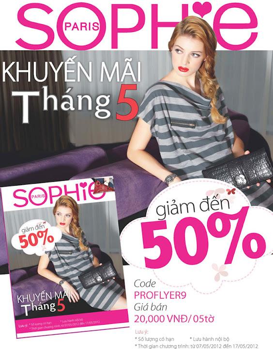 Sophie khuyến mãi giảm giá 50% tháng 5