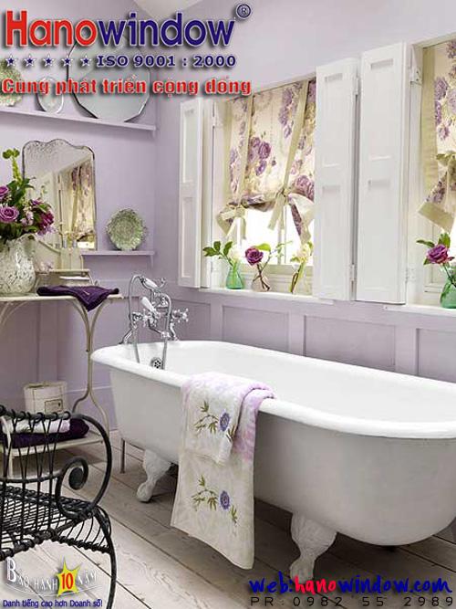 Hanowindow.com - Hãy làm đẹp cửa sổ phòng tắm - Bathroom  để những phút giây thư giãn thêm thoải mái và dễ chịu hơn.