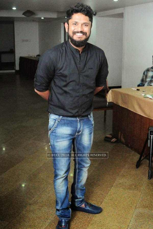 Jomon T John during the premiere of Ennu Ninte Moideen, in Trivandrum.