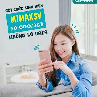 Gói MimaxSV Viettel Miễn phí Data cả tháng cho Sinh viên