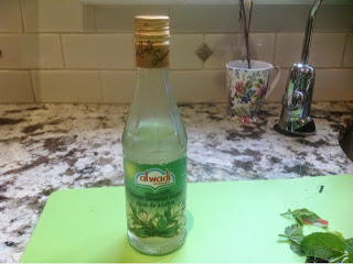 bottle of orange blossom water