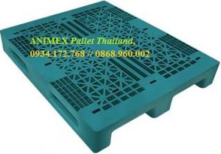Pallet nhựa lưu kho hàng nặng Thái Lan