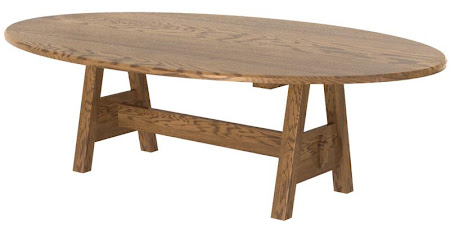 "70"" x 46"" Geneva Conference Table in Rustic Oak, Click for a Larger Photo."