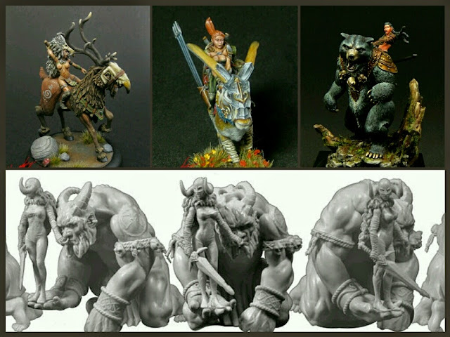 Miniaturas montadas de Ax Faction Miniatures