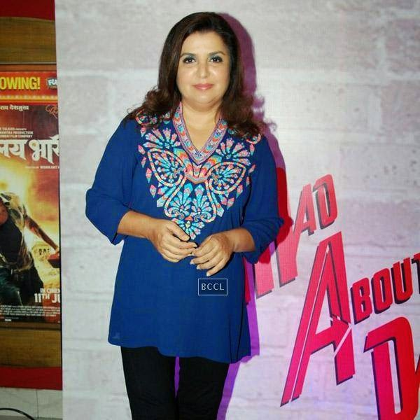 Farah Khan at the trailer launch of Bollywood movie Mad About Dance, held at Fun Republic, on July 16, 2014.(Pic: Viral Bhayani)