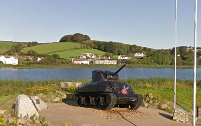 Tank Memorial at Torcross commemorating the lives lost in the D-Day landings
