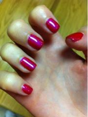 gel, gellux, manicure, pedicure, pink