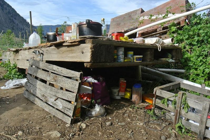 cocina en el camping de Keremeos