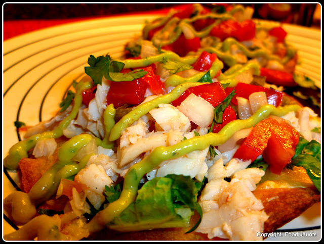 Fish Tostadas with Guacamole