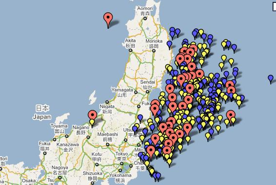 Scott sabols world of weather japan earthquake and tsunami since the 90 on friday japan has experienced more than 300 separate aftershocks see the location of the quakes from friday morning until early sunday gumiabroncs Gallery