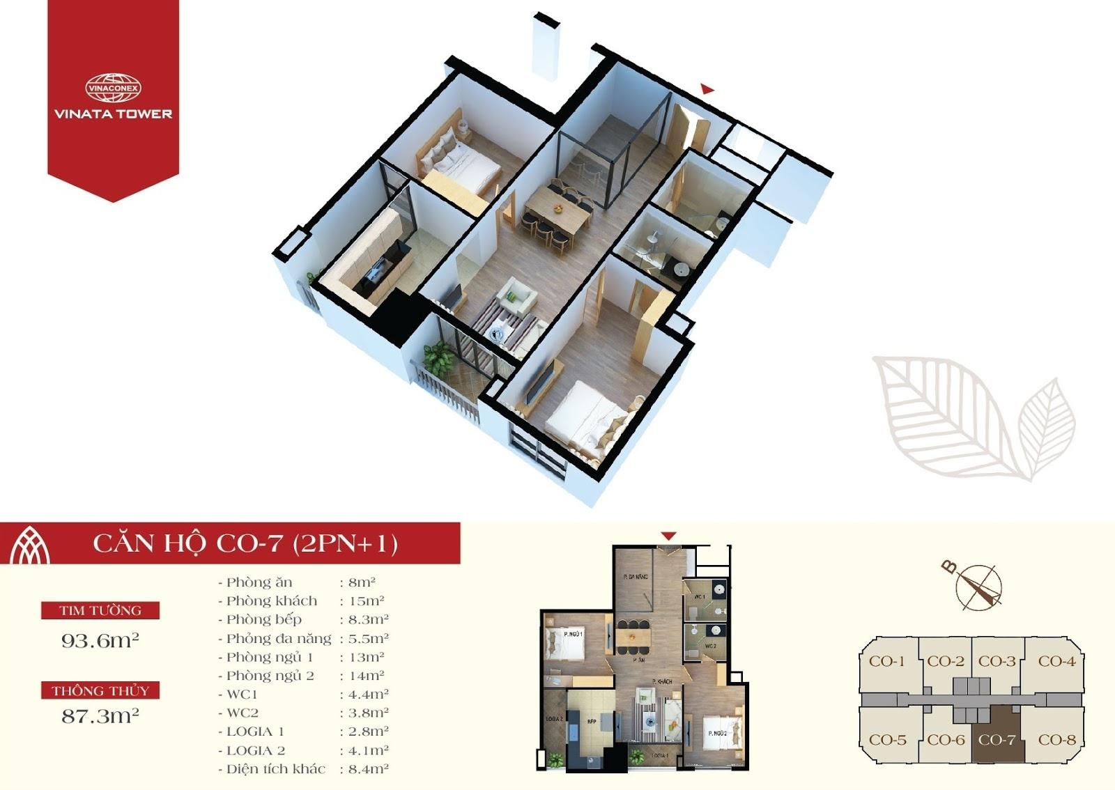 căn hộ CO7 chung cư Vinata Tower