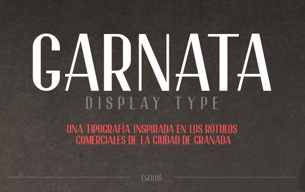 Garnata Display Free Fonts