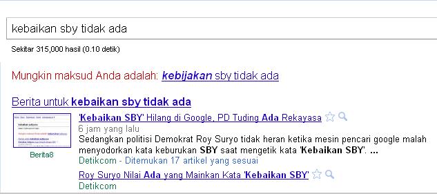 kebaikan sby di google