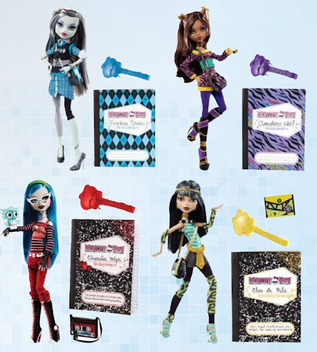 Las Monster High van al Instituto con carteras y carpetas