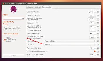 """""""No Blur"""" su CCSM in Ubuntu Linux"""