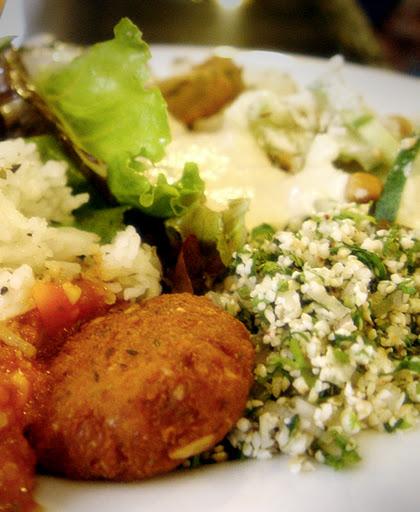 Falafel, Tabbouleh, Hummus