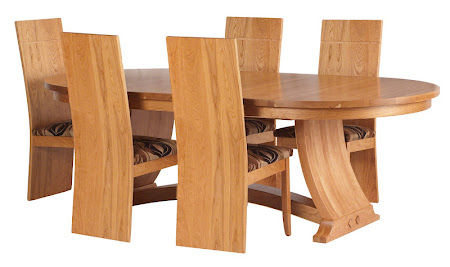 "90"" x 48"" Adagio Table and Chairs in Natural Cherry"