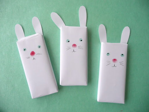 Go in with a pen to add details in their faces—adding a yarn bow around your bunnies' necks may be even cuter!
