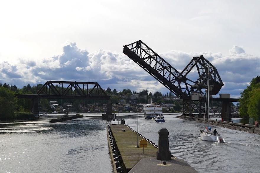 Шлюзы Баллард, Сиэтл, Вашингтон (Ballard Locks, Seattle, WA)