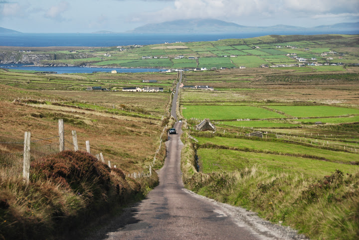 Road from Coomanaspig to Portmagee, Skellig Ring, Ireland