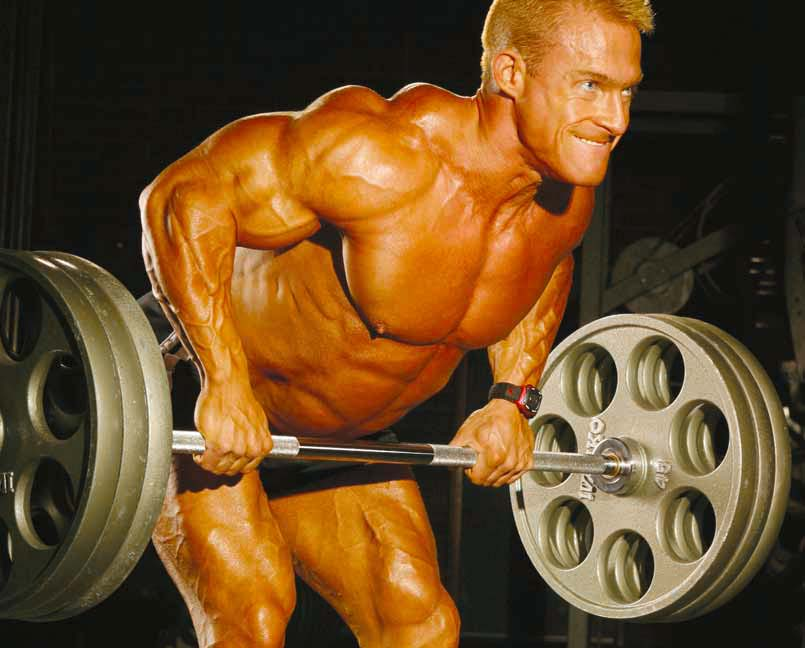 BODYBUILDING ROUTINES : FULL BODY : BENT-OVER BARBELL ROW