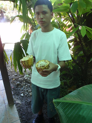 Our Guide Shows Us a Banana Pod