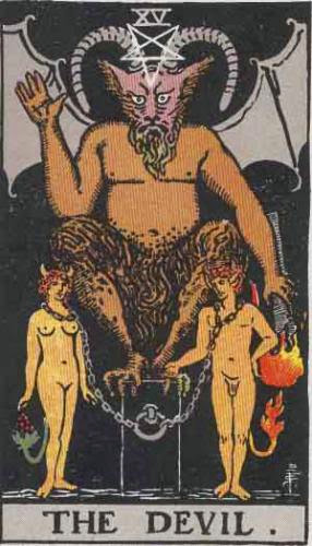 Tarot Card Meaning For The Devil Rws And Thoth
