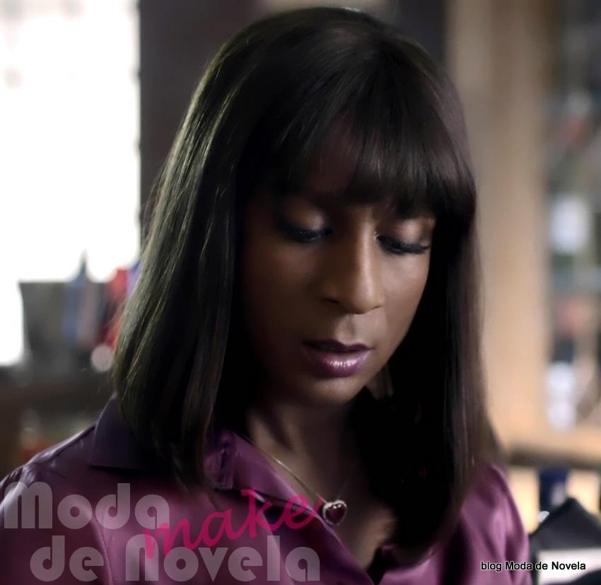 moda da novela Geração Brasil - maquiagem da Dorothy Benson
