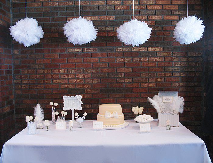 Chic White Baby Shower