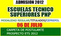 ADMISION ets-pnp 2012 Inscripcion escuela tecnica superior