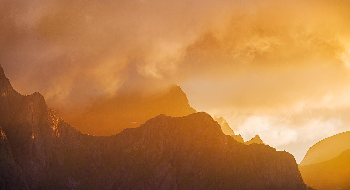 Burning Skye and Mountains Ridge – image made during a fantastic sunset I had (I…