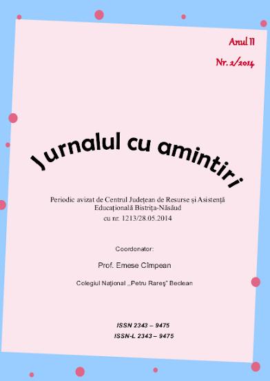 ed5 (PRINT - liceu) jurnalul cu amintiri_COLEGIUL NAȚIONAL_Petru Rareș_Beclean_BISTRIțA-NăSăUD