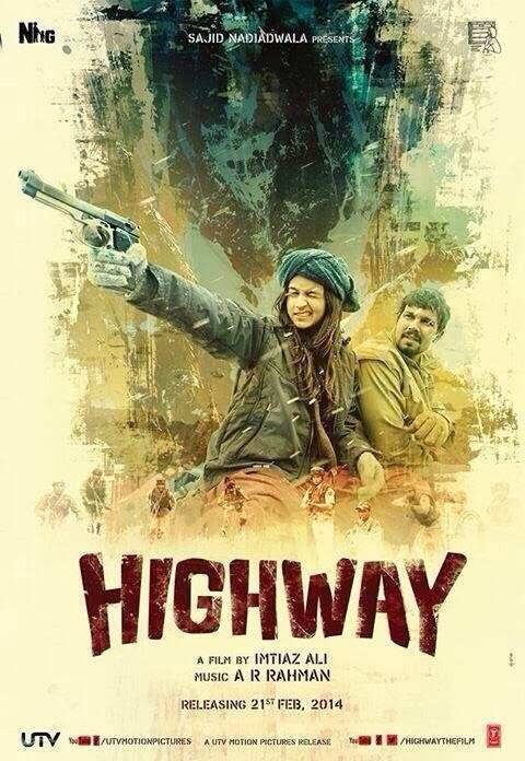 Poster Of Hindi Movie Highway (2014) Free Download Full New Hindi Movie Watch Online At Alldownloads4u.Com
