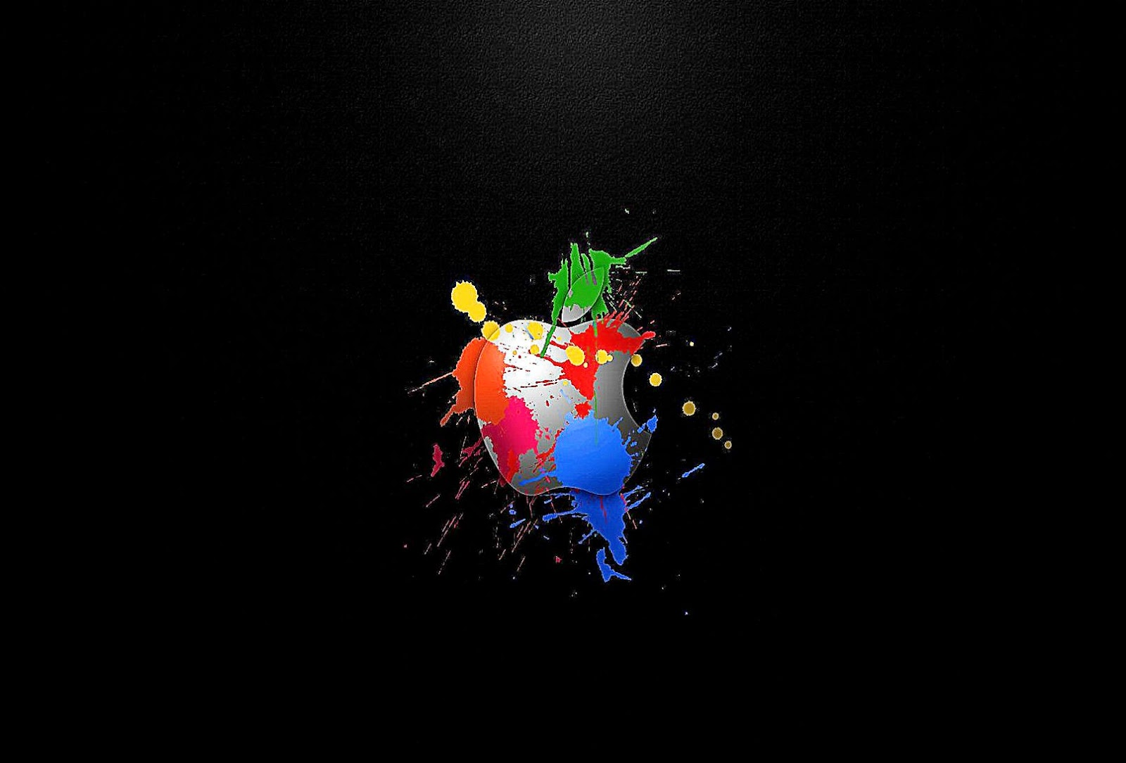 Colored Splatter Apple Wallpaper and Photo High Resolution Download