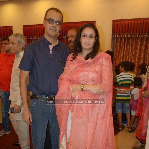 Ashish and Chhavi Nagory during Devaj Patel's birthday party, held in Nagpur.