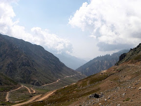 Looking down the Lowari Pass - Dir Side