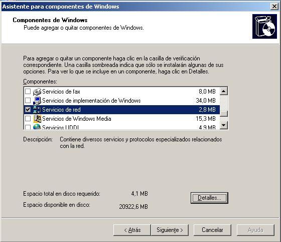 Servidor de DNS, configuración de red, equipo controlador de dominio