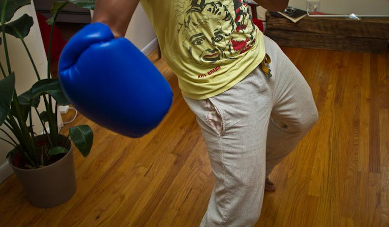 Khaki Linen KCs boxing glove
