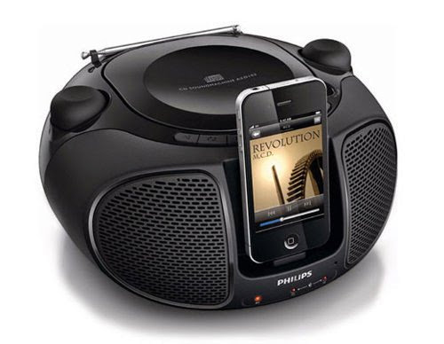 Philips AZD-102 MP3 iPod,iPhone Docking Stations Player FM Radio CD,CD-R,CD-RW