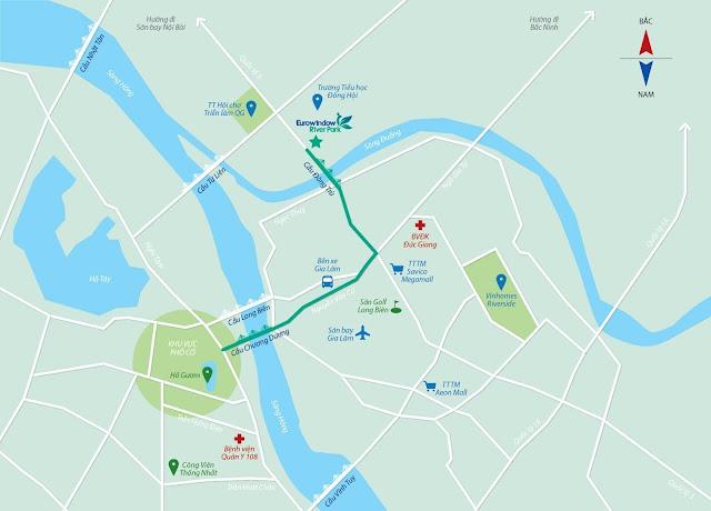 Vị trí đẹp bậc nhất của Eurowindow River Park.