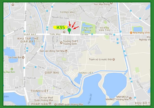 Vị trí Chung cư K35 Tân Mai Bộ Quốc Phòng
