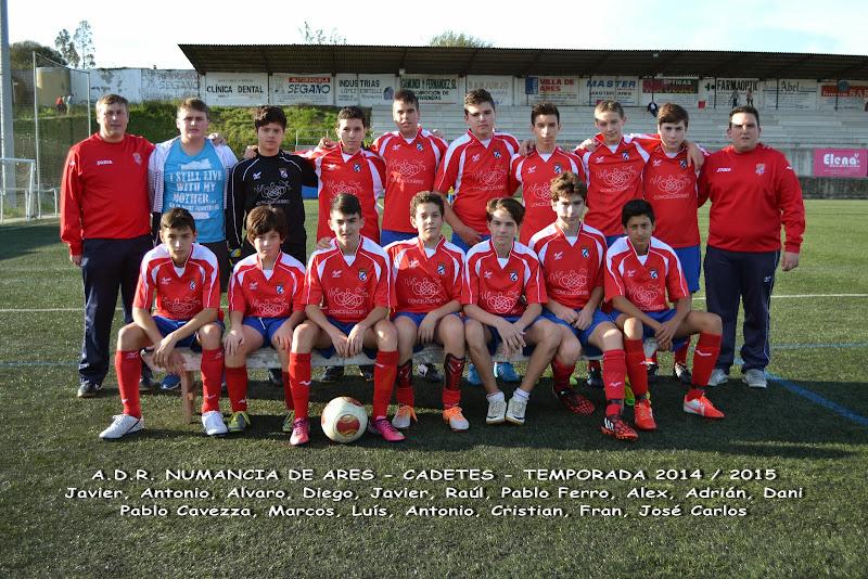 Numancia de Ares. Equipo Cadete. Temporada 2014-2015.