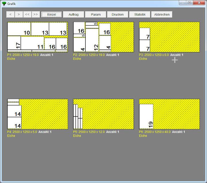 Plattenoptimierung ElementsOPT - grafische Darstellung
