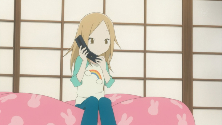 Usagi Drop Rin rainbow tee phone