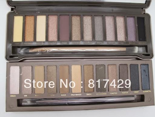 , 2PCS/LOT NAKE Makeup Eye shadow palette 1 12 Colors N